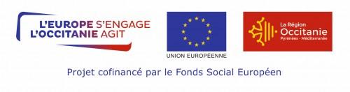 Logo l'Europe s'engage, L'Occitanie agit